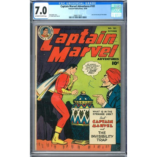 Captain Marvel Adventures #101 CGC 7.0 (OW-W) *2086117013*