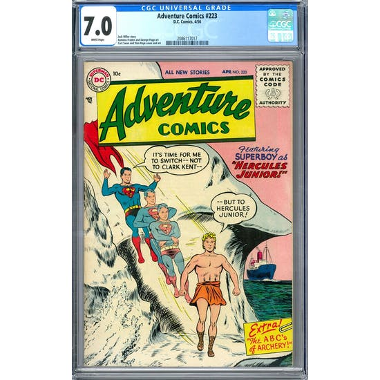 Adventure Comics #223 CGC 7.0 (W) *2086117017*