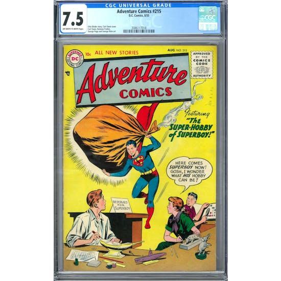 Adventure Comics #215 CGC 7.5 (OW-W) *2086117018*