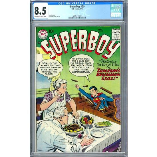 Superboy #59 CGC 8.0 (OW-W) *2086117024*