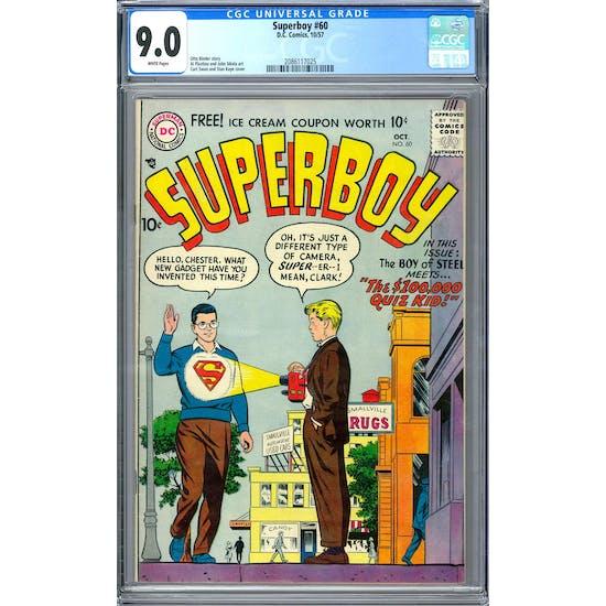 Superboy #60 CGC 9.0 (W) *2086117025*