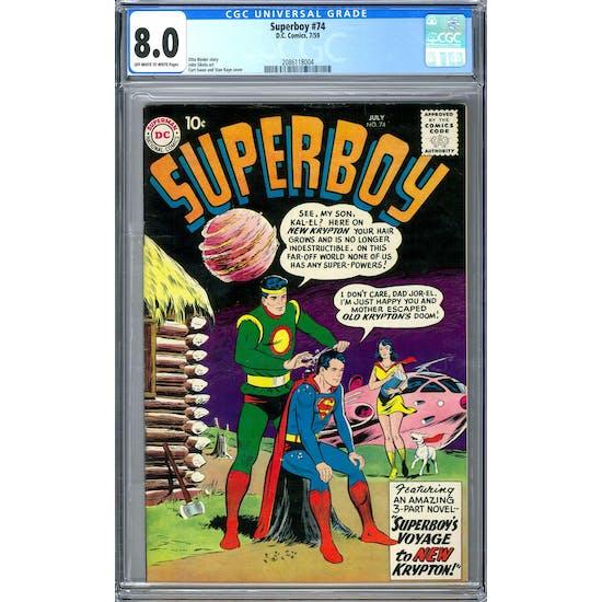 Superboy #74 CGC 8.0 (OW-W) *2086118004*