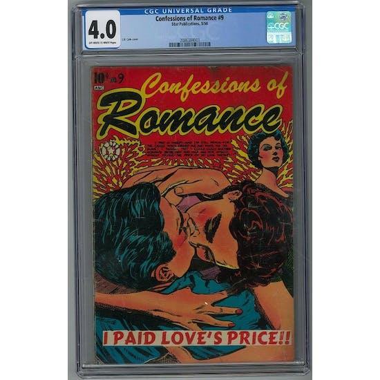 Confessions of Romance #9 CGC 4.0 (OW-W) *2086384003*
