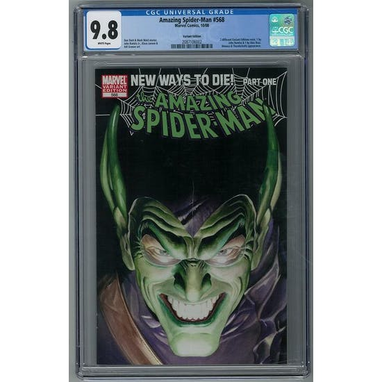 Amazing Spider-Man #568 CGC 9.8 (W) Alex Ross Variant *2087106002*