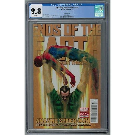 Amazing Spider-Man #684 CGC 9.8 (W) Gabriele Dell'Otto Variant *2087106010*