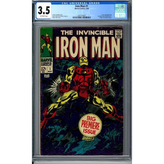 Iron Man #1 CGC 3.5 (OW) *2087519001*