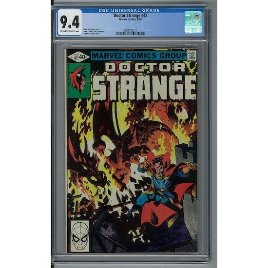 Doctor Strange #42 CGC 9.4 (OW-W) *2087725011*