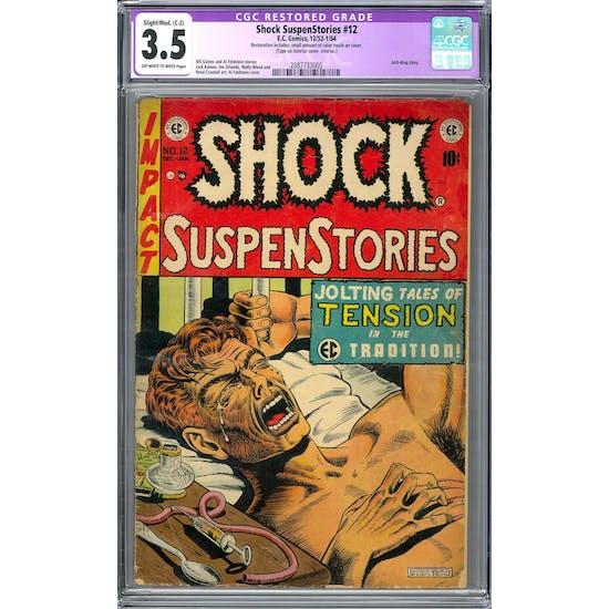 Shock SuspenStories #12 CGC 3.5 Restored (OW-W) *2087733005*