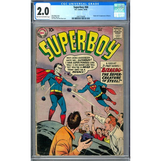 Superboy #68 CGC 2.0 (LT-OW) *2087733008*