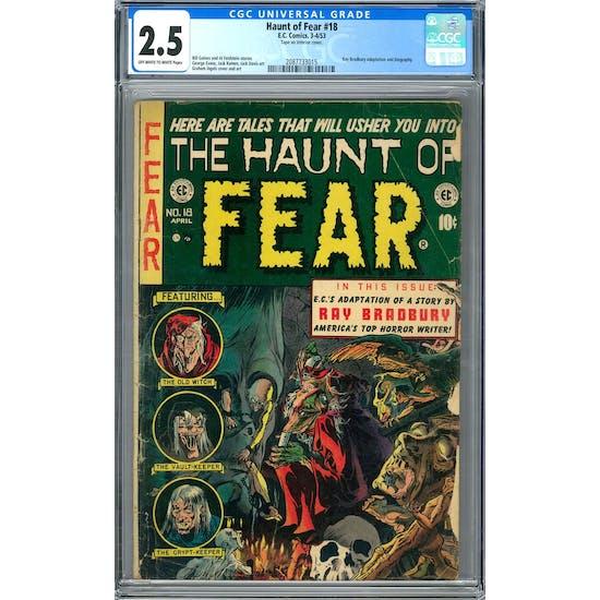 Haunt of Fear #18 CGC 2.5 (OW-W) *2087733015*