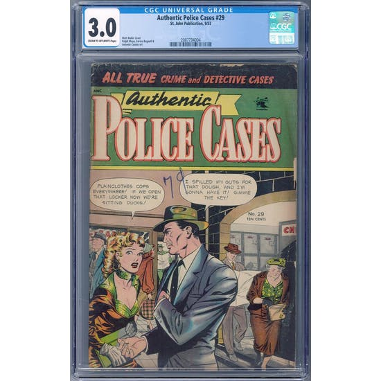 Authentic Police Cases #29 CGC 3.0 (C-OW) *2087734004*