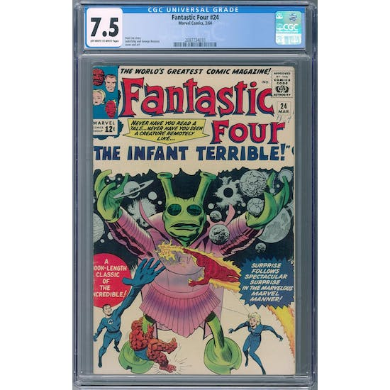Fantastic Four #24 CGC 7.5 (OW-W) *2087734010* Fantastic2020Series - (Hit Parade Inventory)