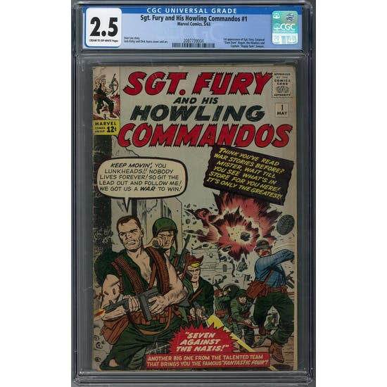 Sgt. Fury and His Howling Commandos #1 CGC 2.5 (C-OW) *2087739004*
