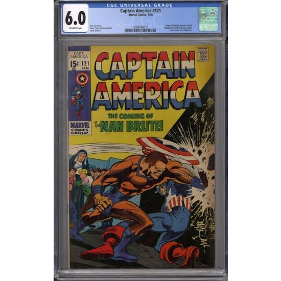 Captain America #121 CGC 6.0 (OW) *2088366010*