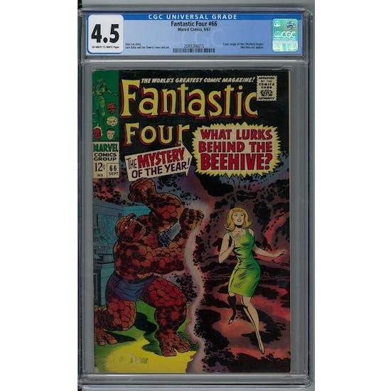 Fantastic Four #66 CGC 4.5 (OW-W) *2088366015*