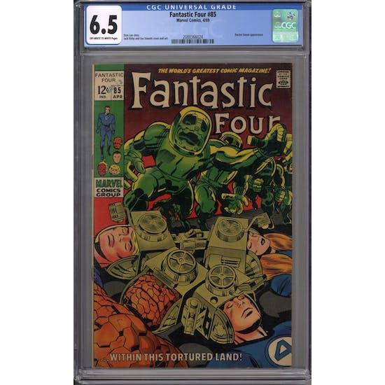 Fantastic Four #85 CGC 6.5 (OW-W) *2088366024*