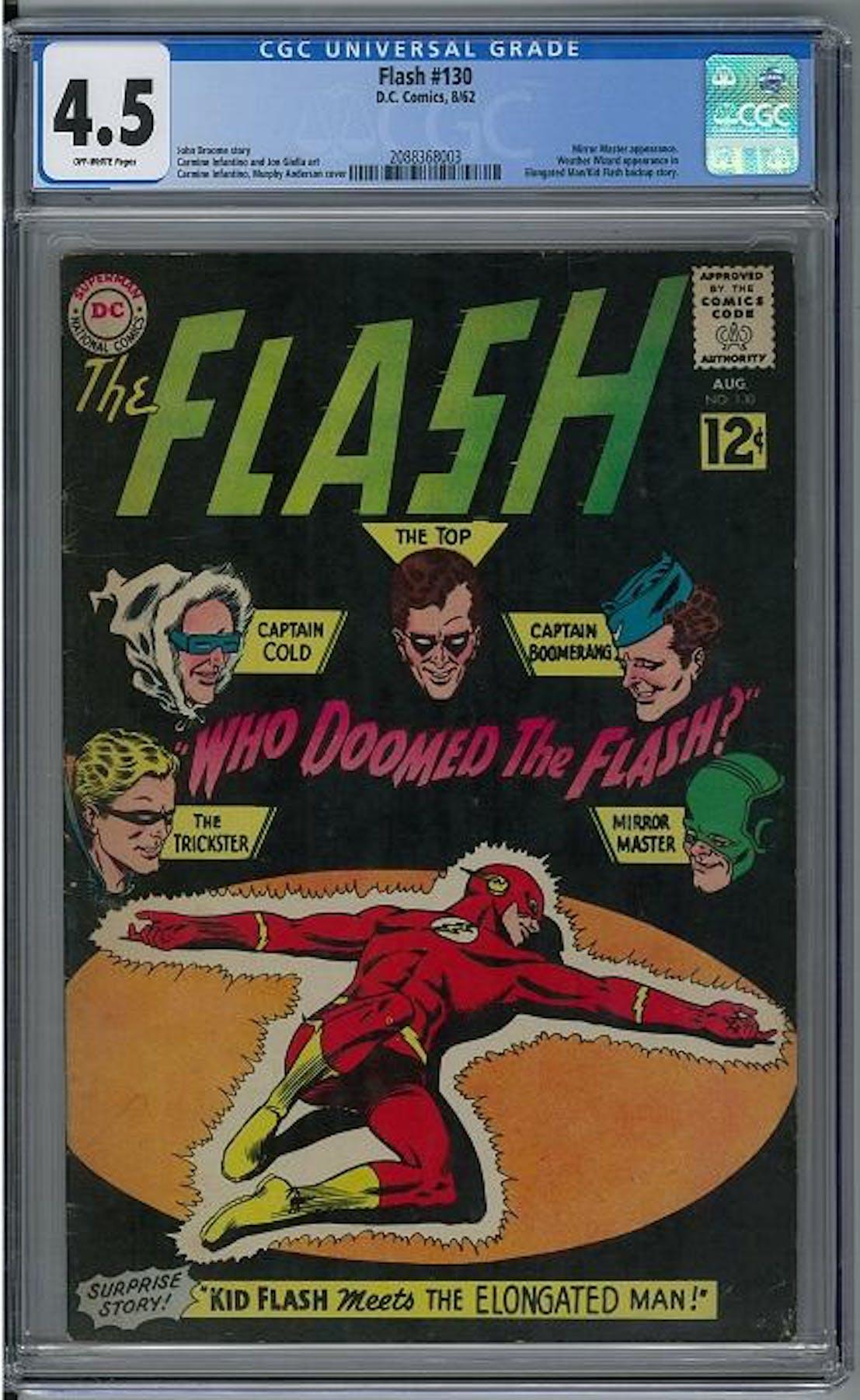 Flash 130 Cgc 4 5 Ow 2088368003 Da Card World