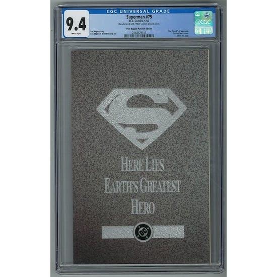 Superman #75 CGC 9.4 (W) Poly-Bagged Platinum Edition *2088625013* 150+ Comic Lot
