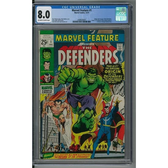 Marvel Feature #1 CGC 8.0 (OW-W) *2088626007*
