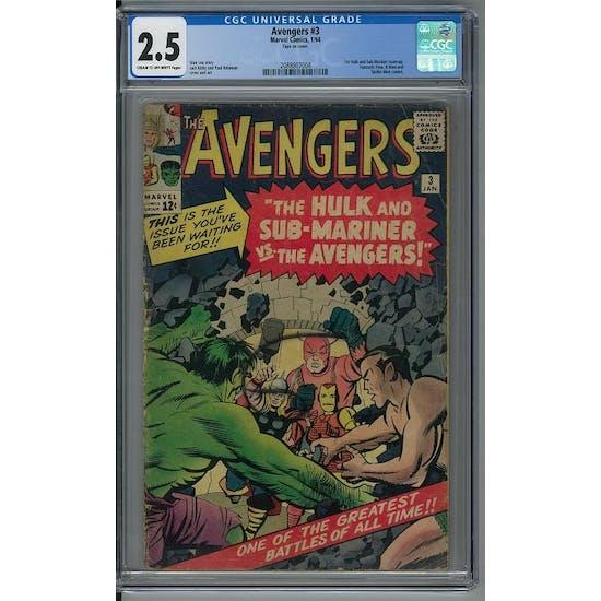 Avengers #3 CGC 2.5 (C-OW) *2088807004*