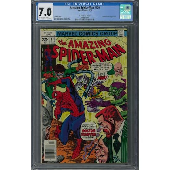 Amazing Spider-Man #170 CGC 7.0 (OW-W) 35 Cent Price Variant *2088978005*
