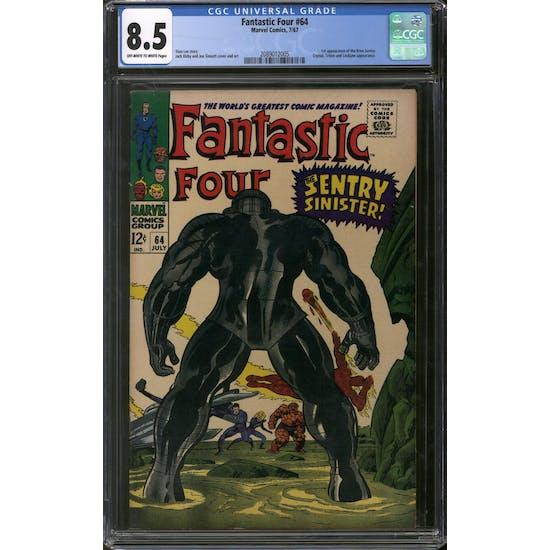 Fantastic Four #64 CGC 8.5 (OW-W) *2089012005*
