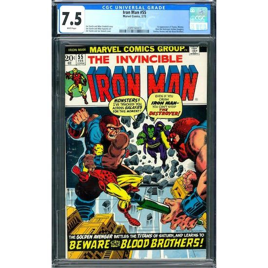 Iron Man #55 CGC 7.5 (W) *2089160002*
