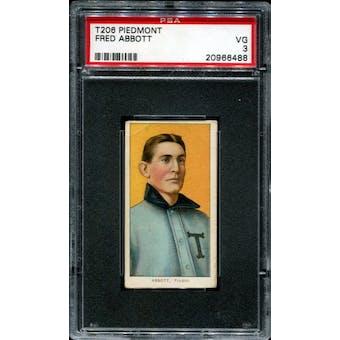 1909-11 T206 Piedmont Fred Abbott PSA 3 (VG) *6488