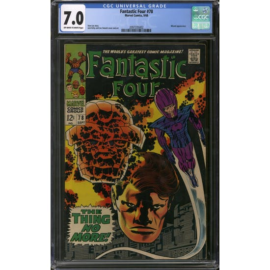 Fantastic Four #78 CGC 7.0 (OW-W) *2097335002*