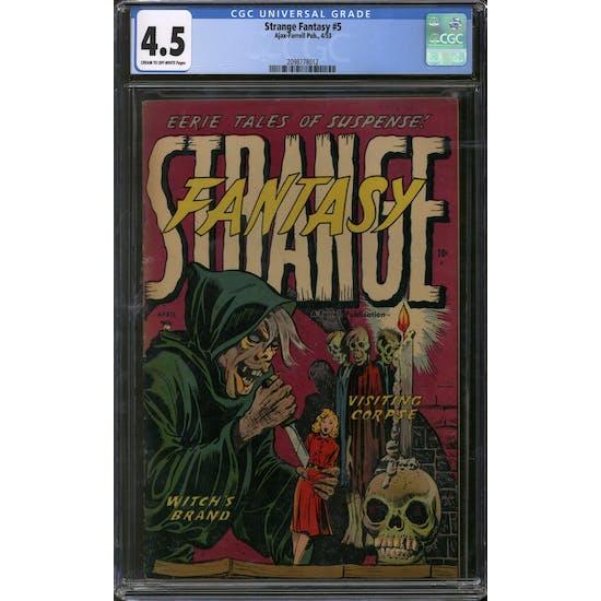 Strange Fantasy #5 CGC 4.5 (C-OW) *2098778012*