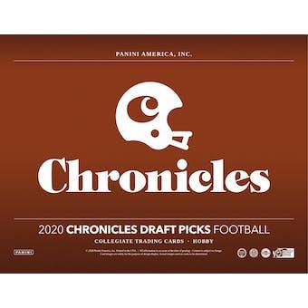 2020 Panini Chronicles Draft Picks Football Hobby Box (Presell)
