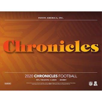 2020 Panini Chronicles Football 3-Box - DACW Live 8 Spot Random Division Break #1