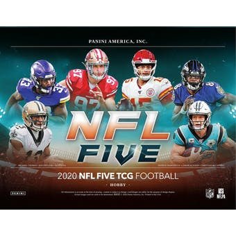 2020 Panini NFL Five Football Trading Card Game Booster 12-Box Case