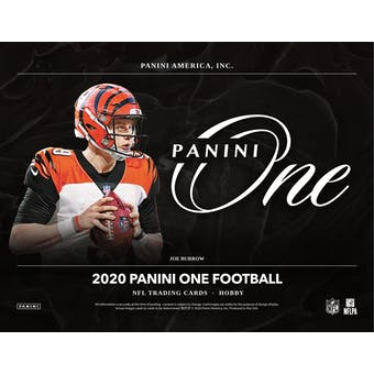 2020 Panini One Football Hobby 20-Box Case (Presell)