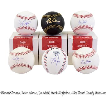 2020 Hit Parade Autographed Baseball Hobby Box - Series 3 - Mike Trout, Ronald Acuna, & Ken Griffey Jr.!!