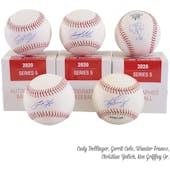 2020 Hit Parade Autographed Baseball 1-Box Ser 5- DACW Live 6 Spot Random Division Break #4