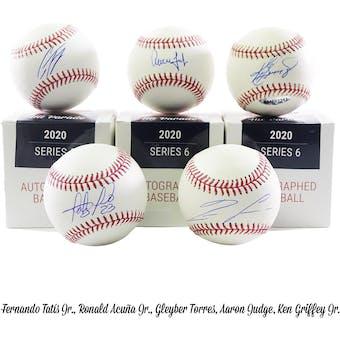 2020 Hit Parade Autographed Baseball Hobby Box - Series 6 - Acuna Jr., Judge, Griffey Jr., & Tatis Jr.!!!