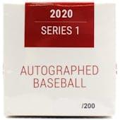 2020 Hit Parade Autographed Baseball 1-Box Ser 1- DACW Live 6 Spot Random Division Break #11