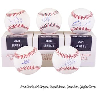 2020 Hit Parade Autographed Baseball Hobby Box - Series 4 - Acuna, Bellinger, & Griffey Jr.!!