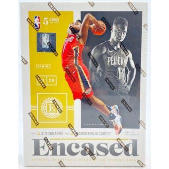2019/20 Panini Encased Basketball Hobby Box