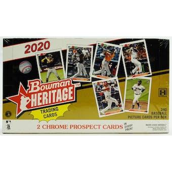 2020 Bowman Heritage Baseball Hobby Box