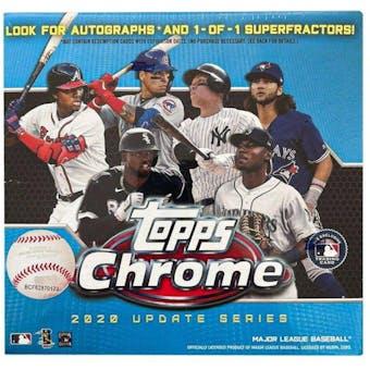 2020 Topps Chrome Update Baseball Mega Box (Blue)