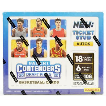 2020/21 Panini Contenders Draft FOTL 1st Off The Line Basketball Hobby Box