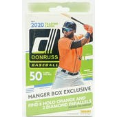 2020 Panini Donruss Baseball 50ct Hanger Box