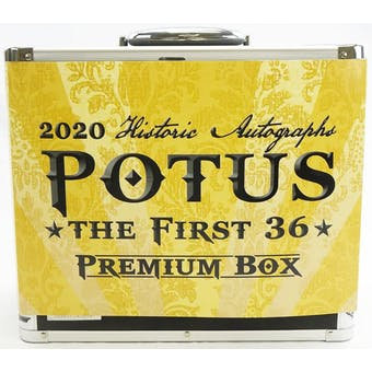 2020 Historic Autographs POTUS The First 36 Premium Box