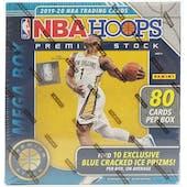 2019/20 Panini Hoops Premium Stock Basketball Mega Box (80 Cards) (Blue Prizms)