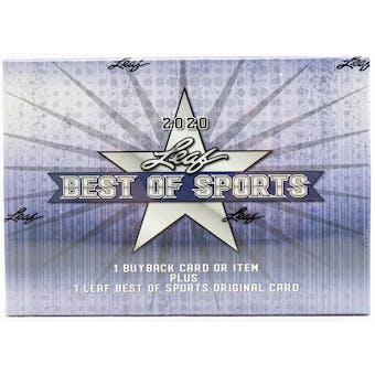 2020 Leaf Best of Sports Hobby Box