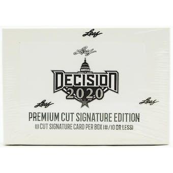 Leaf Decision 2020 Premium Cut Signature Edition Hobby Box