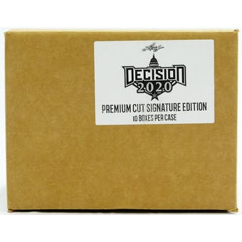 Leaf Decision 2020 Premium Cut Signature Edition Hobby 10-Box Case