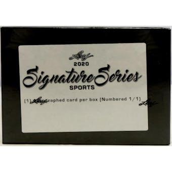 2020 Leaf Signature Series Sports Hobby 5-Box Case- DACW Live 5 Spot Random Hit Break #1